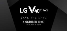 LG V40 ThinQ : un lancement le 4 octobre