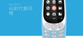 Le Nokia 3310 4G officialisé en Chine