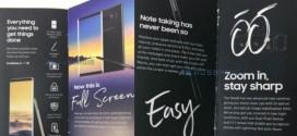 Samsung Galaxy Note 8 : les spécifications dans une brochure