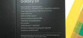 Samsung Galaxy S9 : les caractéristiques techiques dévoilées sur la boîte