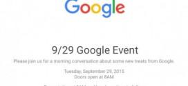 Nexus 5X et Nexus 6P : présentation officielle ce 29/09/2015 à 18H00