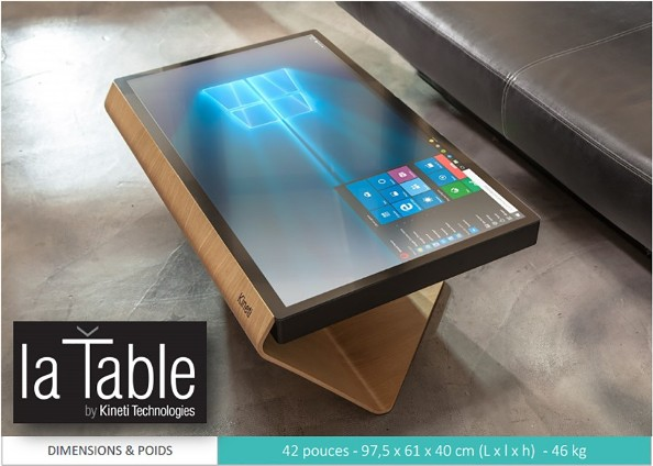 Kineti  une table de 42 pouces sous Windows 10  Top For