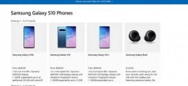 Le Samsung Galaxy S10 en vente sur le Microsoft Store
