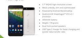 Nexus 6P : les caractéristiques techniques se dévoilent
