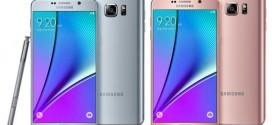 Samsung Galaxy Note 5 : de nouvelles couleurs