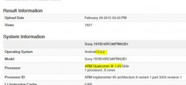 Sony Xperia Z4 : un premier benchmark