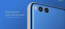 Le Xiaomi Mi Note 3 officiellement présenté