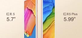 Les Xiaomi Redmi 5 et Redmi 5 Plus officiellement présentés