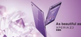 Sony Xperia Z3 : maintenant en violet