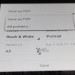QuickOffice Sauvegarde PDF