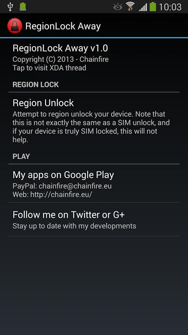 Samsung : Zonage des Note 3 et S4 : une application pour dézoner