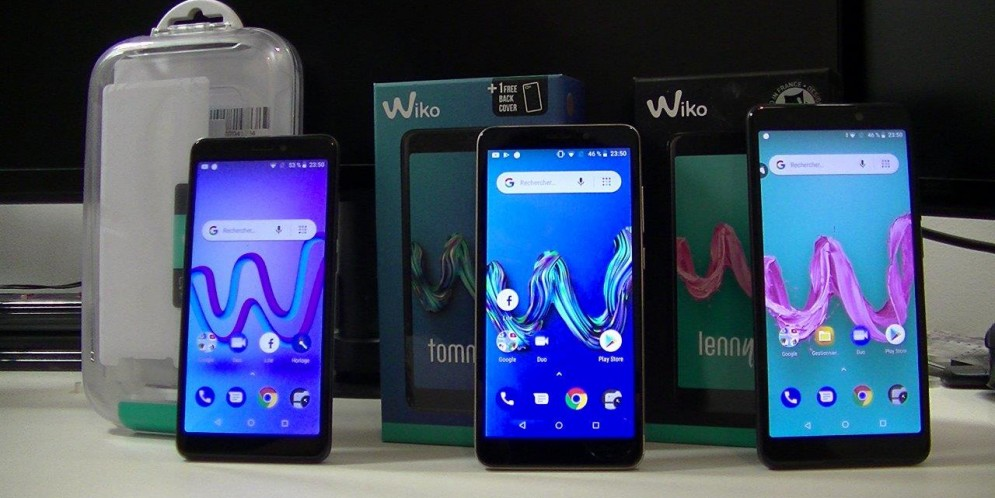 Comparatif des Wiko «Y» 2018 : Jerry 3, Tommy 3, Lenny 5