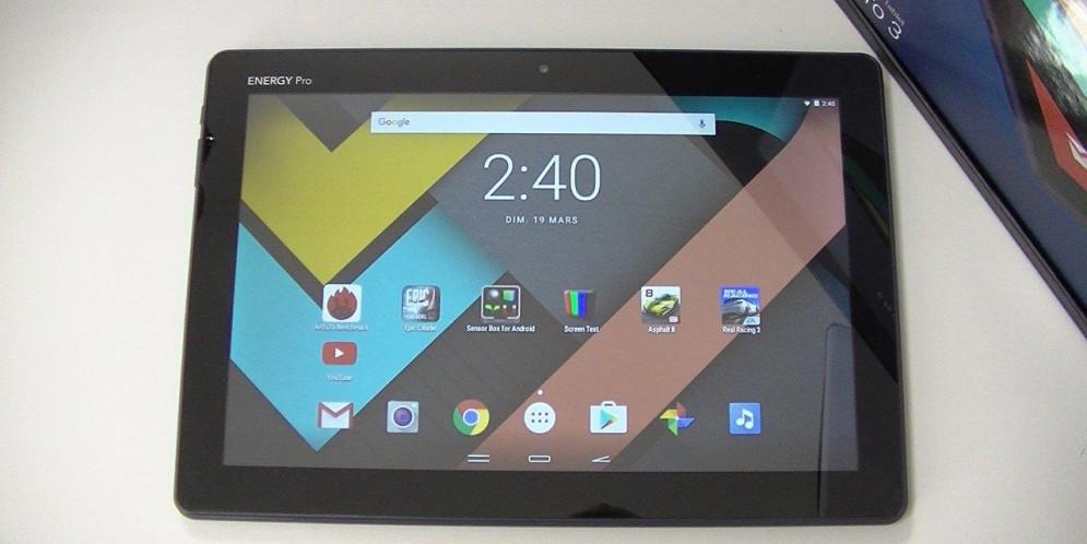 Test de l'Energy Tablet Pro 3 : une tablette pas chère