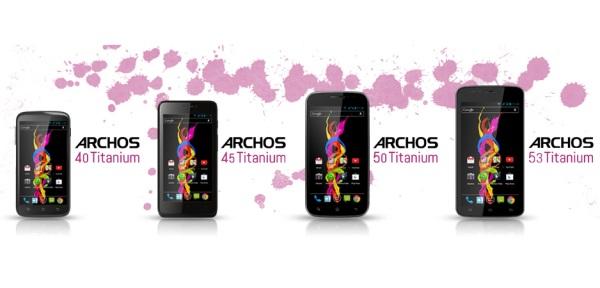 Archos Titanium : Nouvelle gamme de smartphone 40, 45, 50 et 53