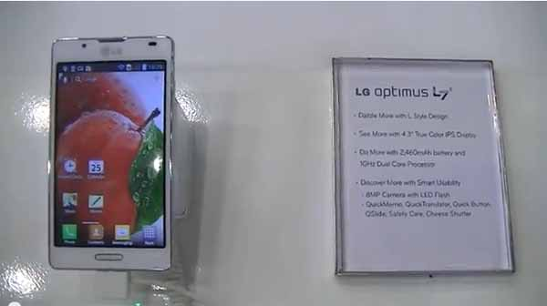 Présentation du LG Optimus L7 II – #MWC13