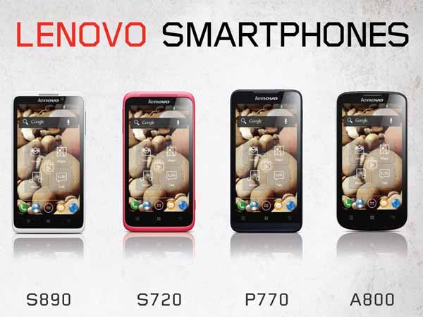 Lenovo S890 S720 P770 A800 – officialisés au CES 2013