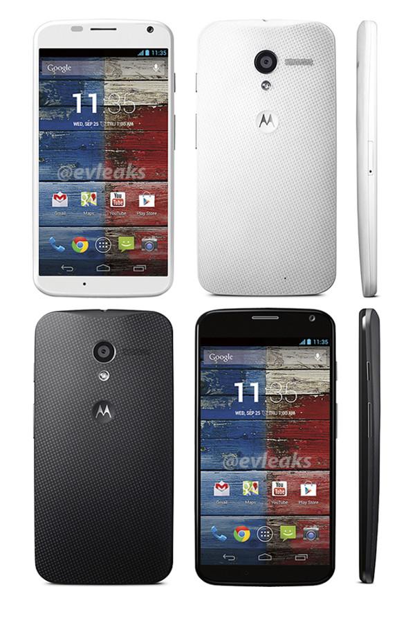 Motorola X Phone : en blanc et en noir