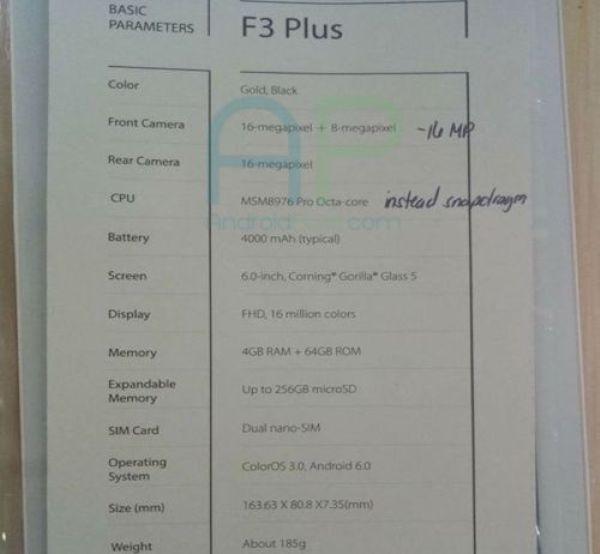 OPPO-F3-Plus-alleged-specs