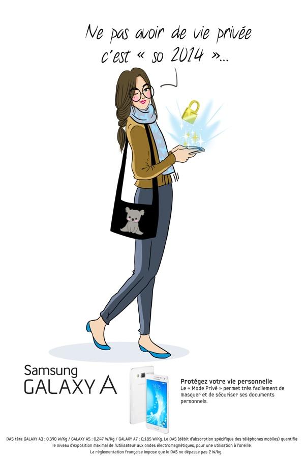 Samsung-GalaxyA_illustration Mode Privé_