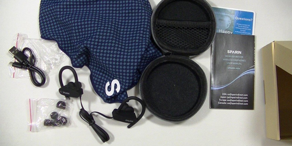 Test des Sparin A06 : des écouteurs bluetooth étanches et pas chers