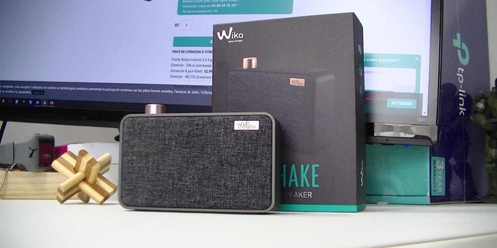 Test de la Wiko WiShake Wireless Speaker : design réussi et son puissant