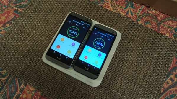 htc one m8 vs htc one mini 2 - vue 17