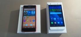 Test comparatif Huawei P8 Lite vs Sony Xperia M4 Aqua : l'Empire du Milieu affronte le pays du soleil levant
