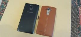 Compartif LG G4 vs Samsung Galaxy Note 4 : deux super-hérauts coréens