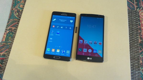 lg g4 vs samsung galaxy note 4 - vue 10