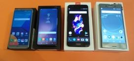 Grand comparatif LG G6 vs Samsung Galaxy S8 vs OnePlus 5 vs Sony Xperia XZ Premium : les 4 fantastiques