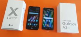 Test comparatif LG Xscreen vs Samsung Galaxy A3 2016 : faux-semblant