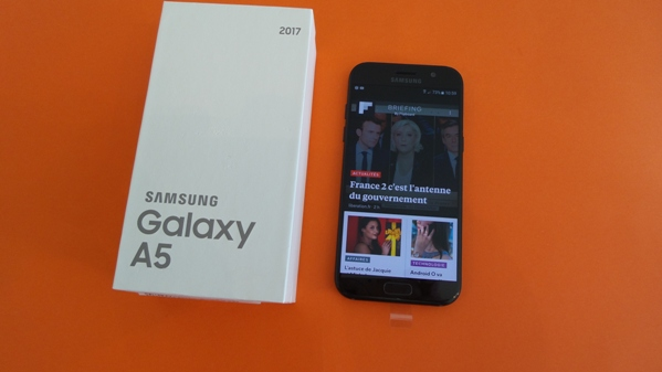 samsung galaxy a5 2017 - vue 17