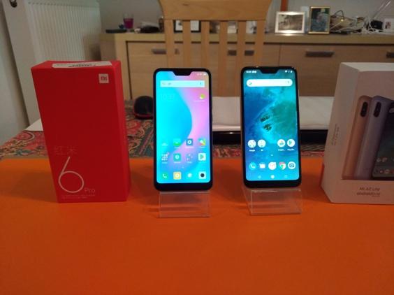 Test comparatif Xiaomi Mi A2 Lite vs Xiaomi Redmi 6 Pro : une question de surcouche