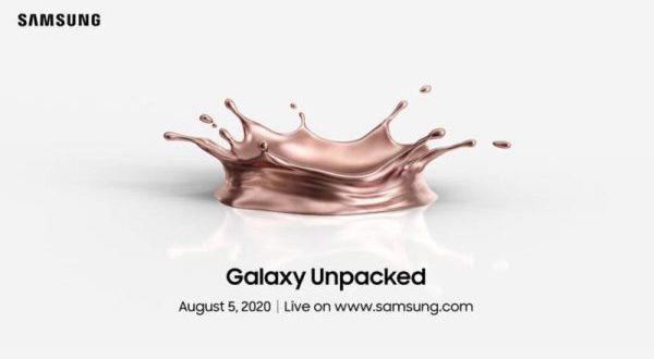 Samsung Galaxy Unpacked : ce 5 août à 15 heures 40