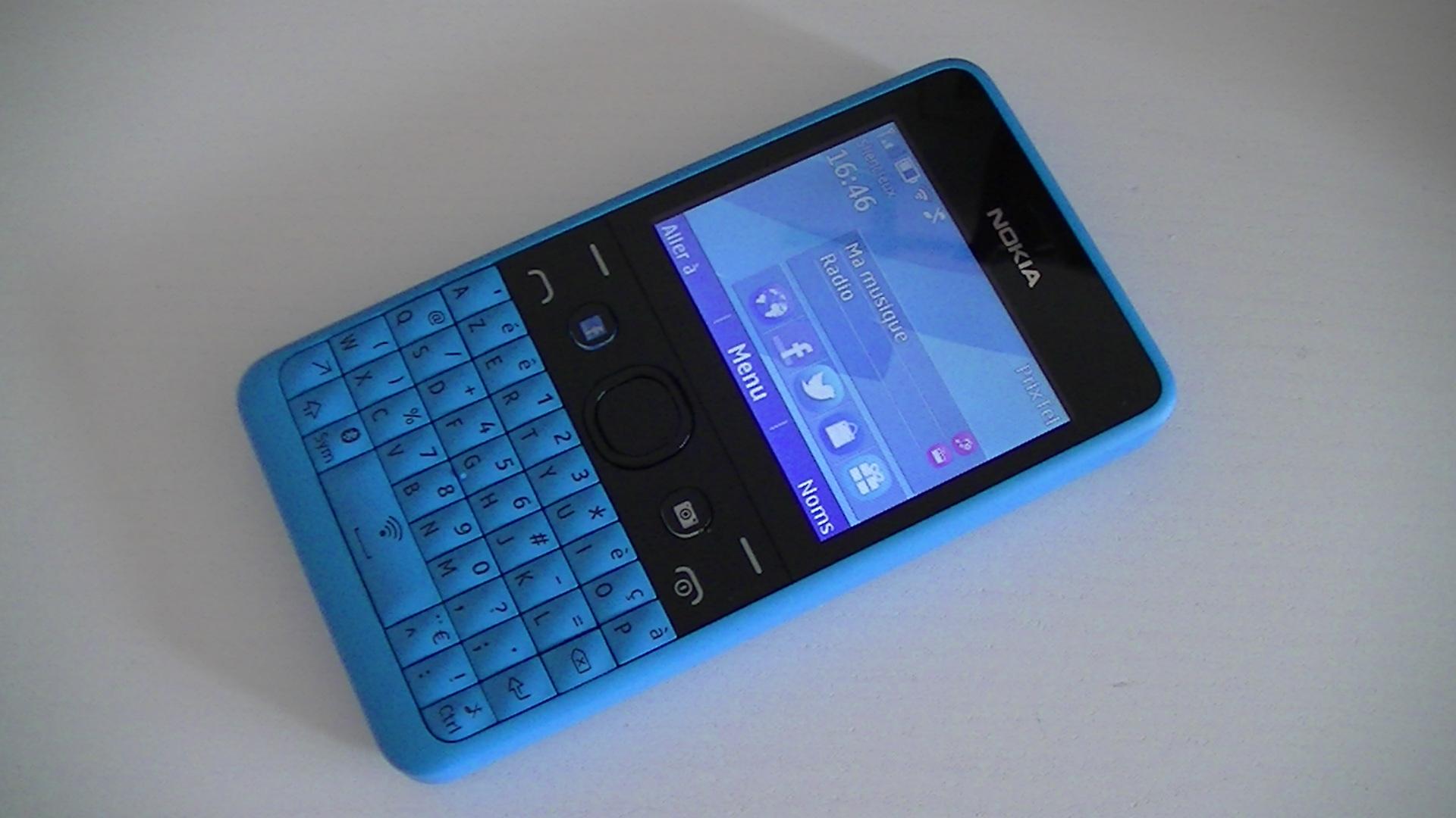Test du Nokia Asha 210 : pour les nostalgiques du clavier physique