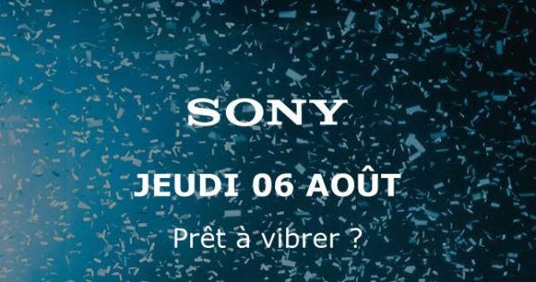 Save The Date Sony : la conférence de presse ce jeudi 06 août à 17 heures