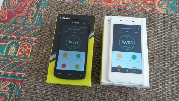 infinix race bolt 2 vs sony xperia e3 - vue 13