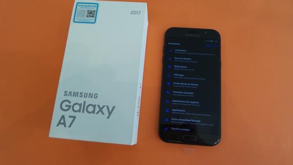 samsung galaxy a7 2017 - vue 22